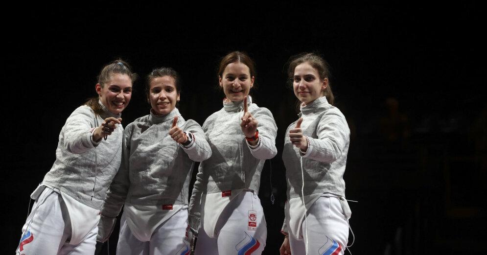 Российские саблистки вышли в финал Олимпийских игр