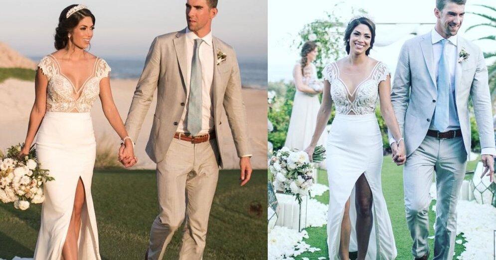 майкл фелпс показал первые фотографии со свадьбы розы представляют собой