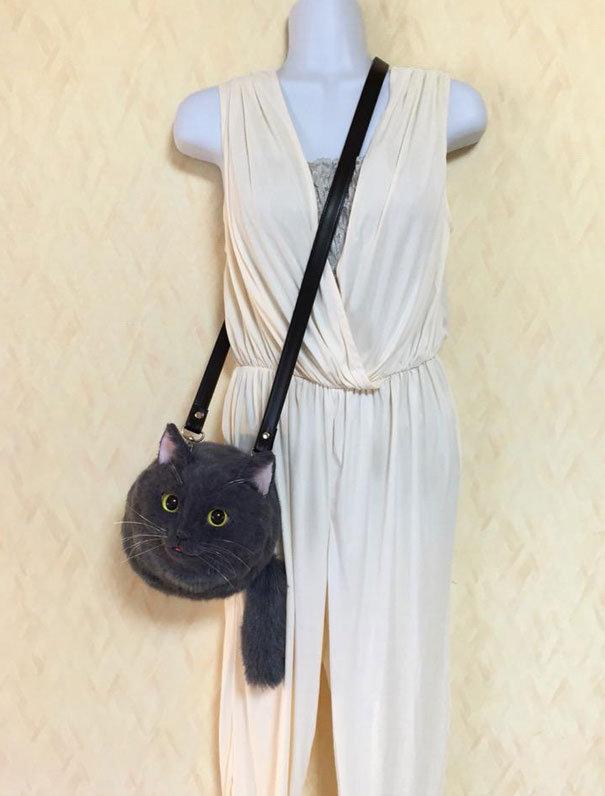 Мило или ужасно? Безумные японцы придумали носить котов вместо сумок