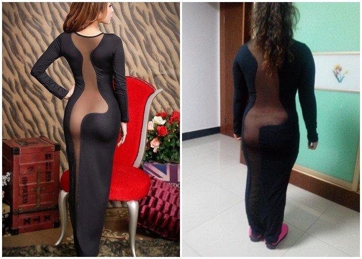 """Ожидание vs Реальность: китаянка, заказавшая платье """"как у актрисы"""" испытала шок"""