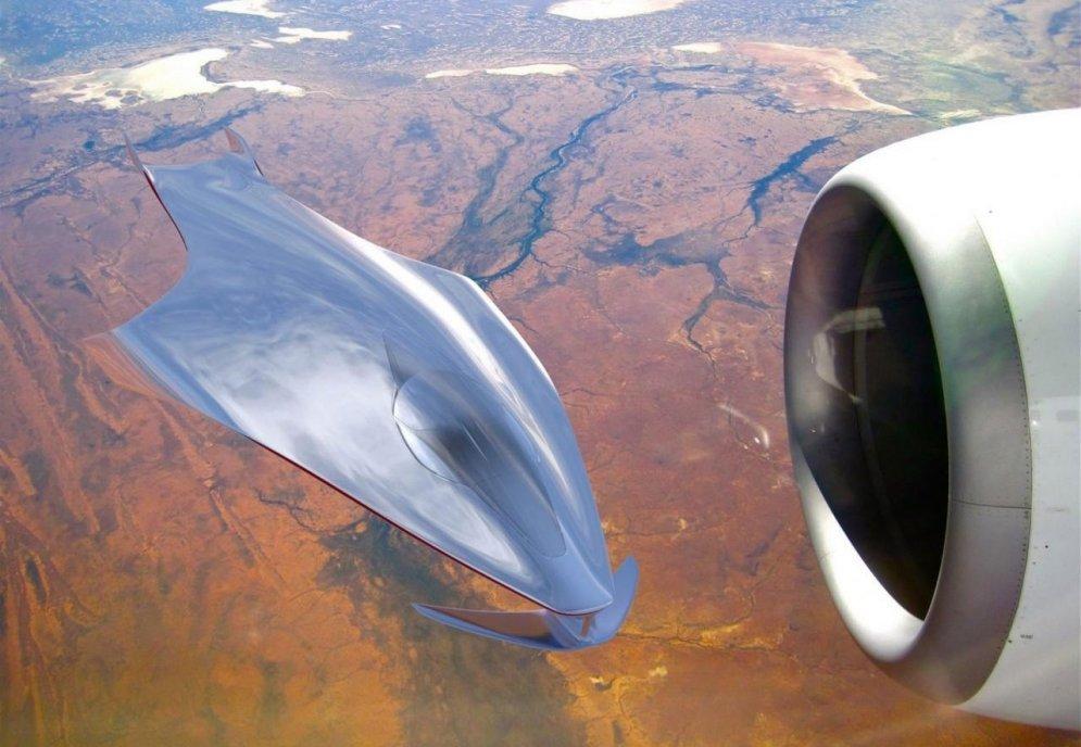 Kā izskatītos, ja citplanētieši lidotu ar 'Ferrari'