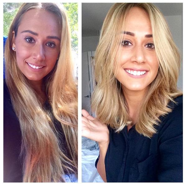 Отрощенные волосы до и после