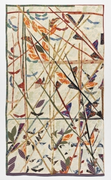 Putni uz sastatnēm Kokvilnas samts, kokvilnas lins, kokvilnas kreps, perkals, zīds, žoržets, sintētiskais džersijs 202 x 354 1981