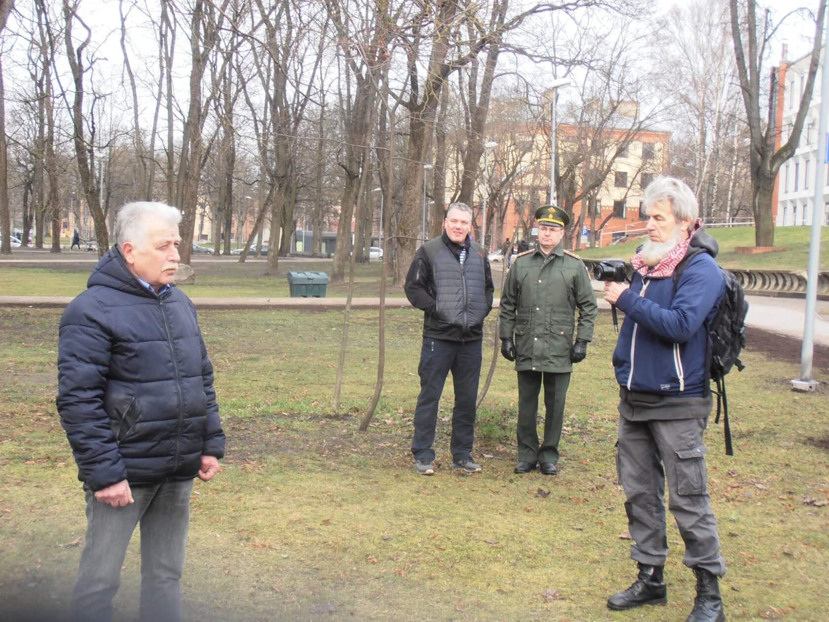 Altenburgs kopā ar Ruslanu Ušakovu pasākuma laikā Rīgā. Foto no sociālajiem tīkliem.