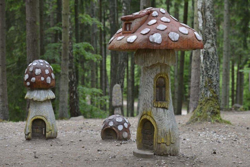 Ieskats koku skulptūru dārzos Latvijā